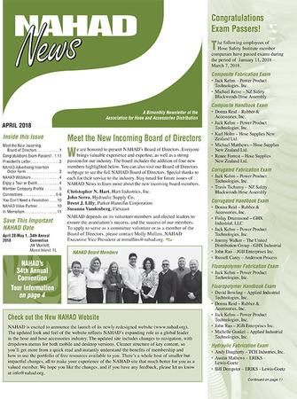 NAHAD News - April