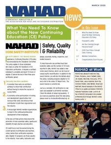 March NAHAD News Cover